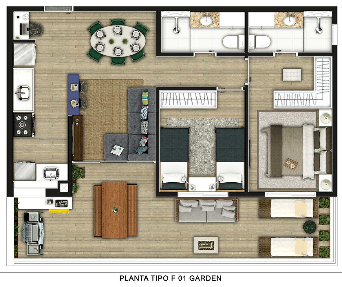 Planta Tipo Garden