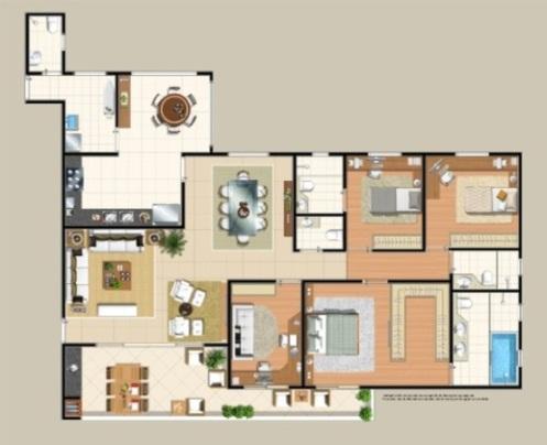 Planta Apartamento Tipo.